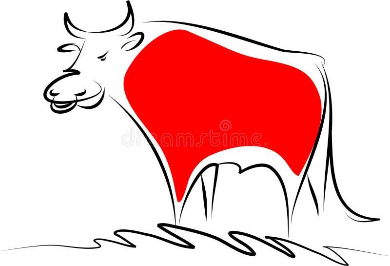 公牛红色 向量例证