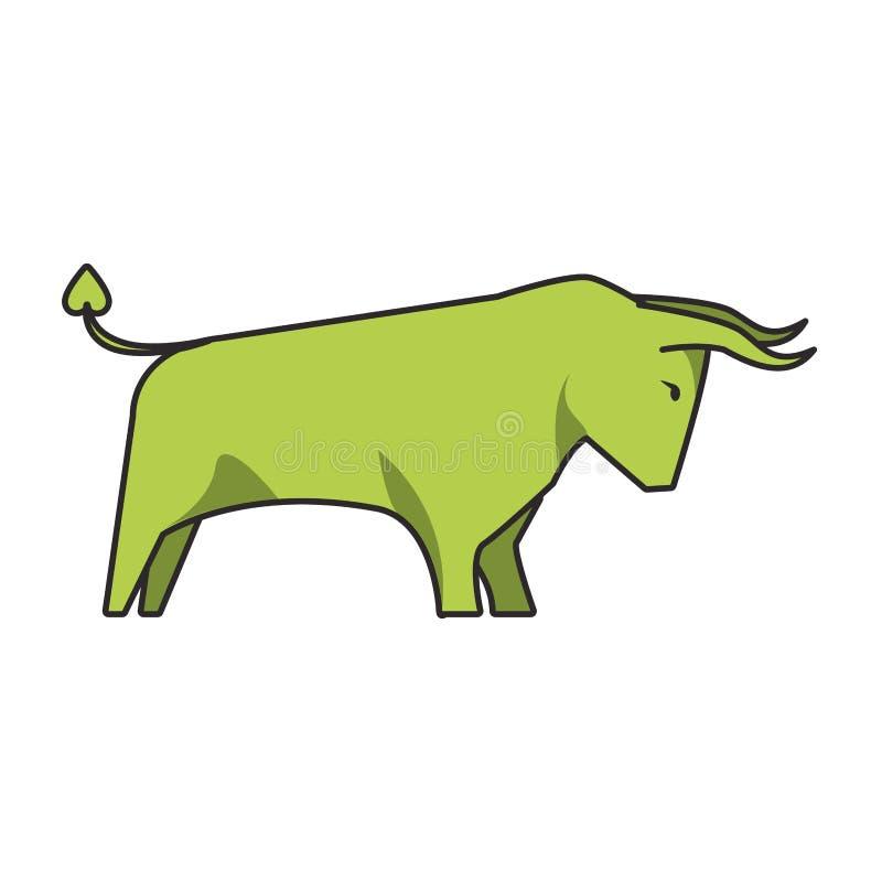 公牛股票市场增量标志隔绝了 皇族释放例证