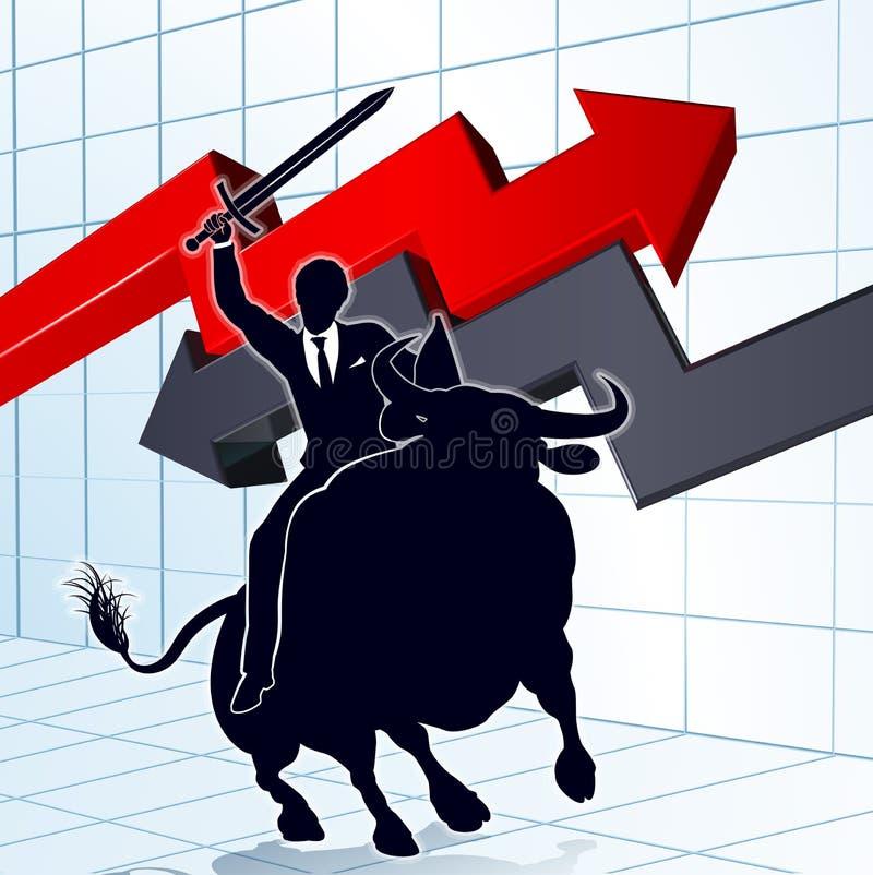 公牛赢利概念的商人 库存例证