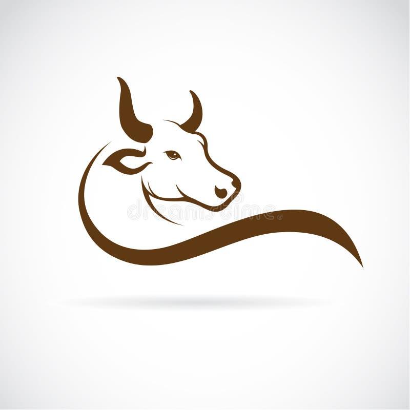 公牛头的传染媒介图象 皇族释放例证