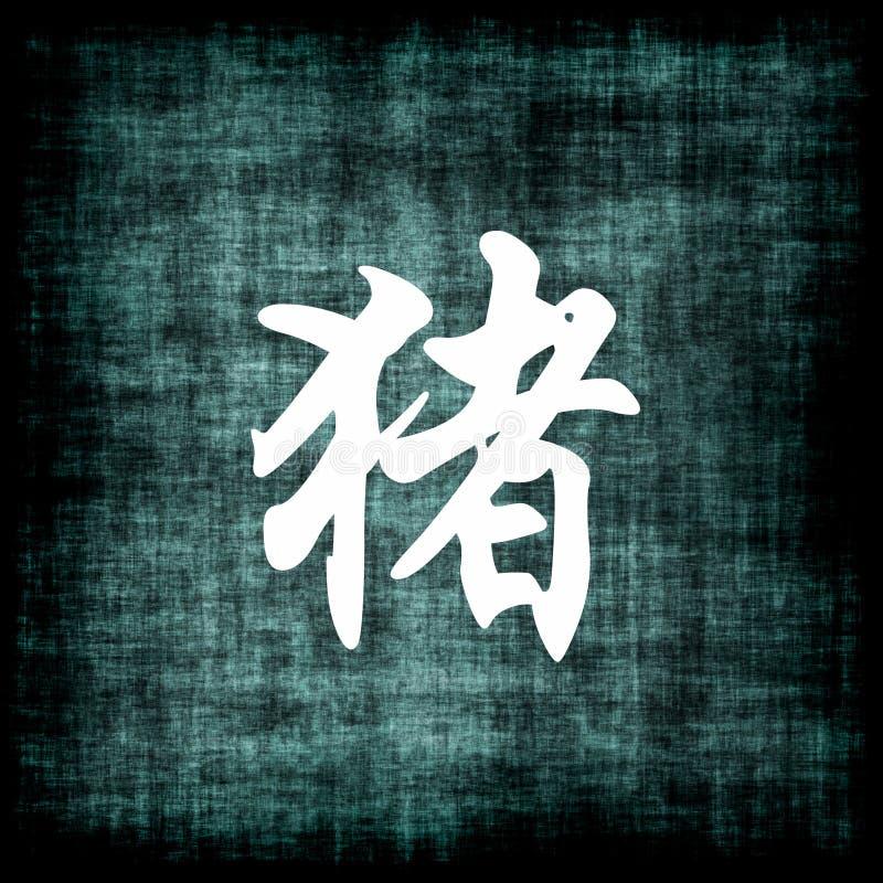 公猪中国符号黄道带 向量例证