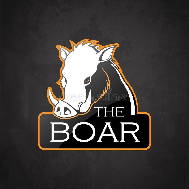 公猪的BoarEblema 向量例证