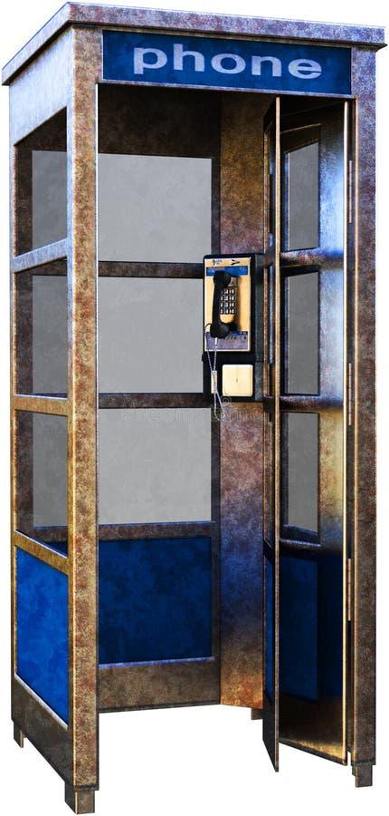 公用电话摊,电话,被隔绝 库存图片