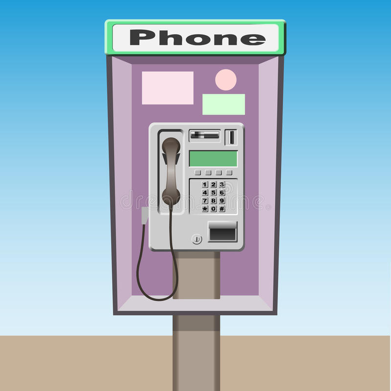 公用电话 库存例证