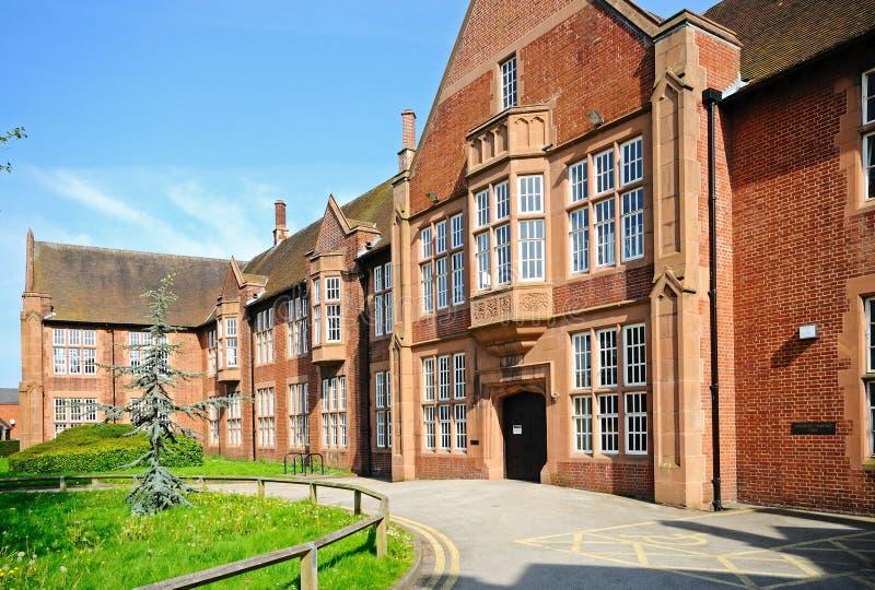 公立图书馆,利奇菲尔德,英国 免版税库存图片