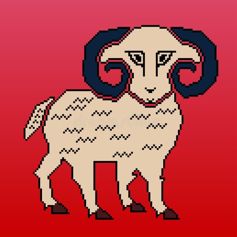 公羊的装饰例证 免版税库存图片