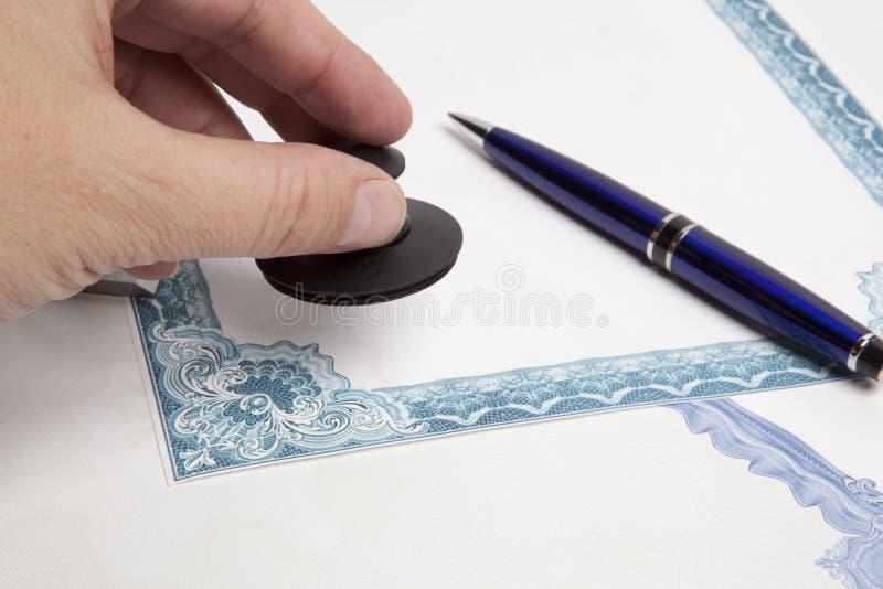 公证人 免版税库存图片