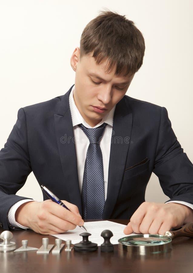 公证员 免版税库存照片