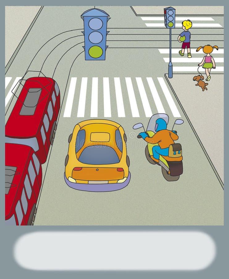 公路安全 库存例证