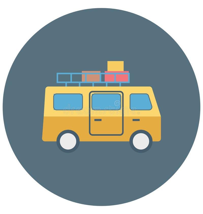 公车运送例证颜色传染媒介休闲的被隔绝的象容易的编辑可能和特别用途,旅行并且游览 向量例证