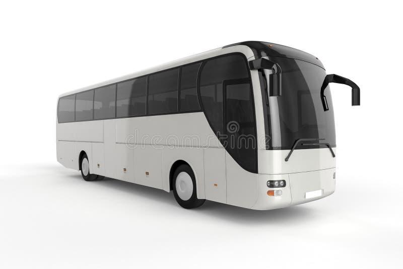 公车运送假装在白色背景, 3D例证 向量例证