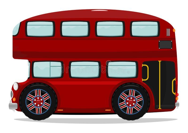 公车运送分层装置双伦敦 库存例证