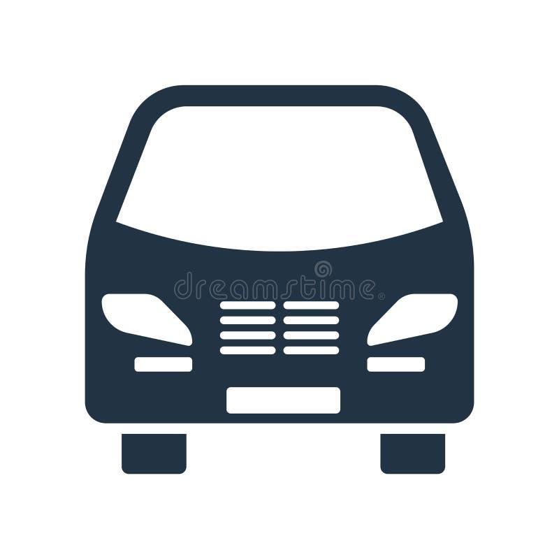 公车运送在白色背景隔绝的象传染媒介,公共汽车标志 库存例证
