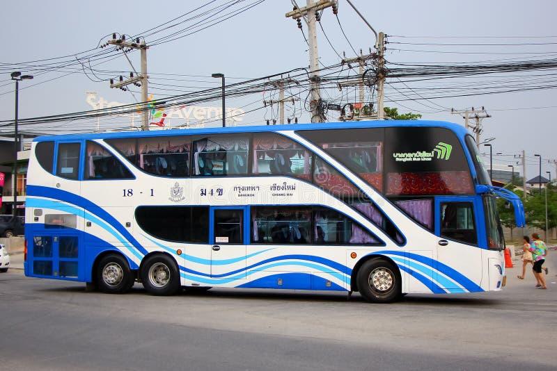 公车运送没有 18-1曼谷公共汽车线路公司 库存图片