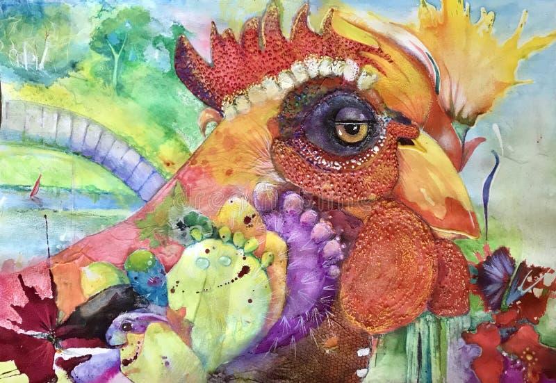 公鸡结构 免版税库存图片