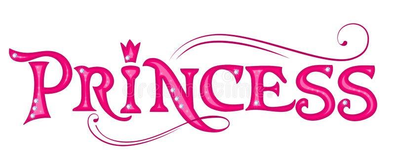公主 桃红色标题 皇族释放例证