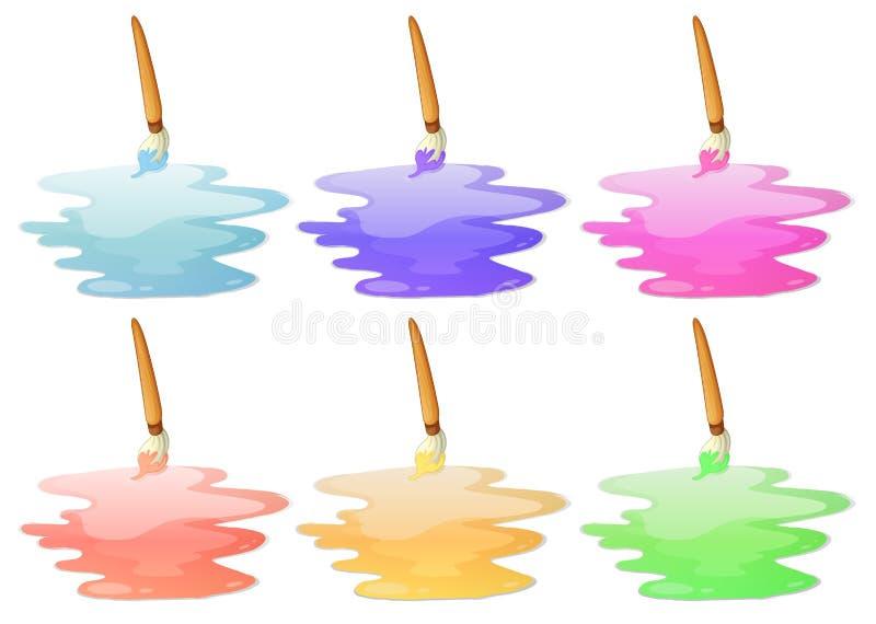 六个油漆选择 向量例证