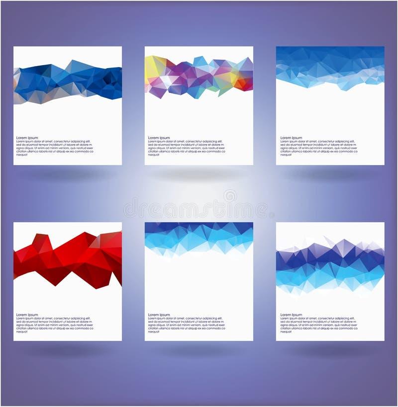 六抽象三角背景的汇集 库存例证