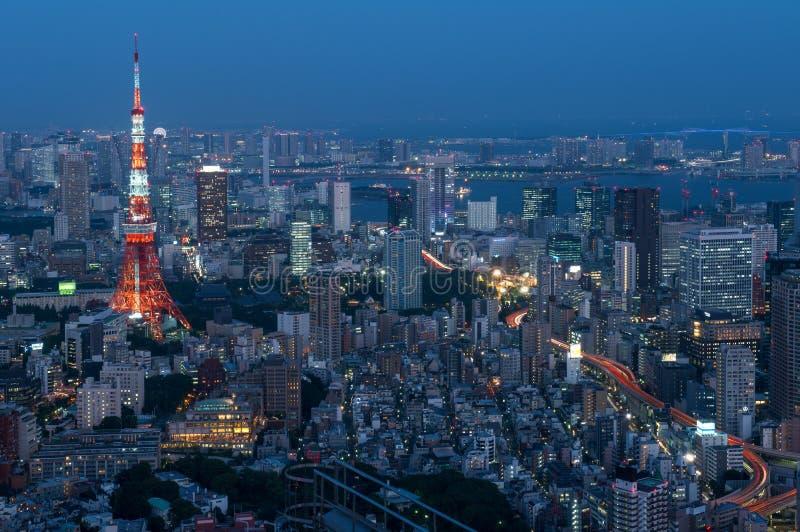 从六本木新城看见的东京铁塔在东京,日本 免版税图库摄影