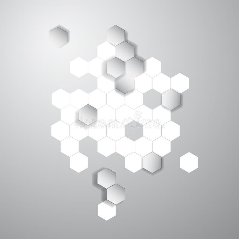 六角传染媒介抽象的颜色3d 蜂窝 向量例证