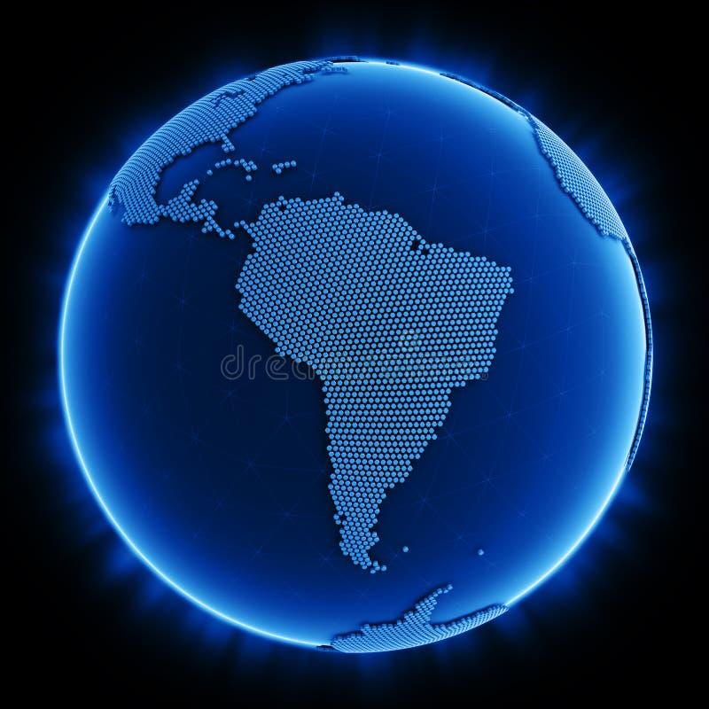 六角形世界 向量例证