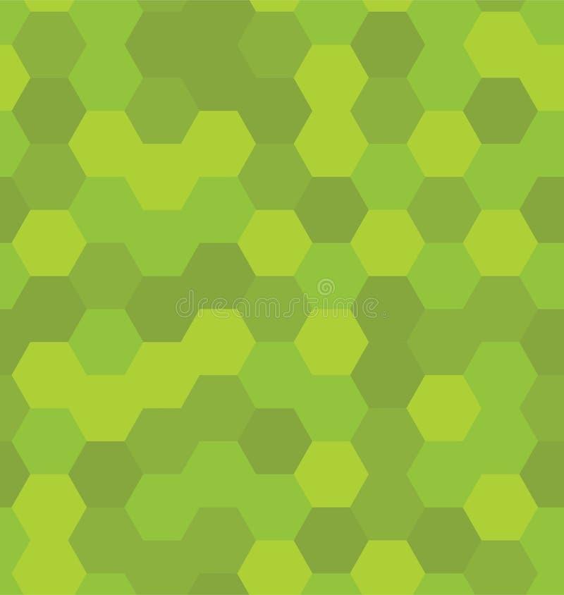 六角形仿造无缝 向量例证