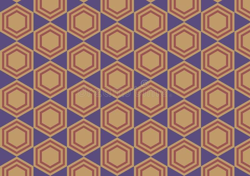 六角形减速火箭的抽象背景 向量例证
