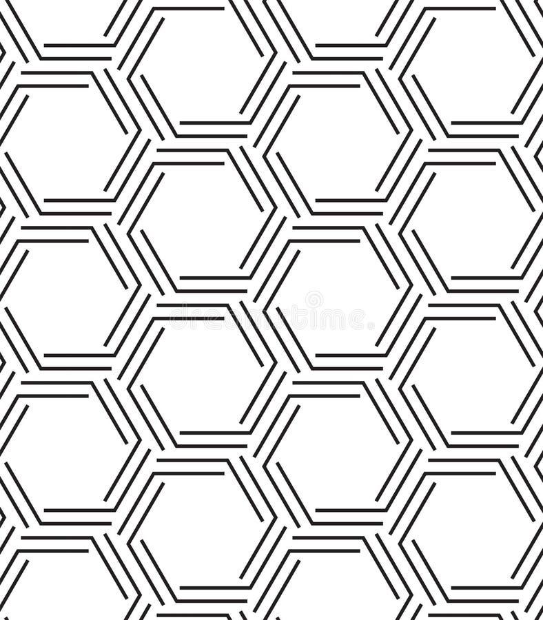 六角形几何无缝的传染媒介样式 现代时髦的纹理 向量例证