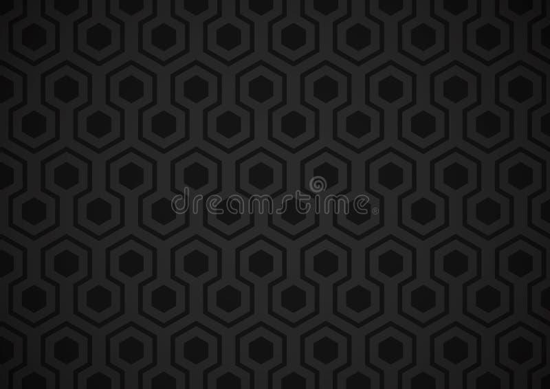 六角形墙纸 向量例证