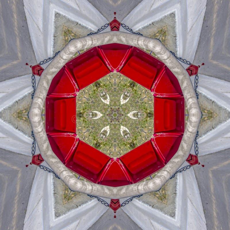 六角形形状做了成象征元素 皇族释放例证