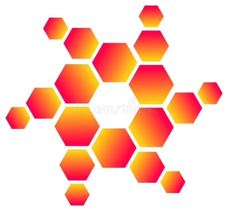 六角形徽标 向量例证