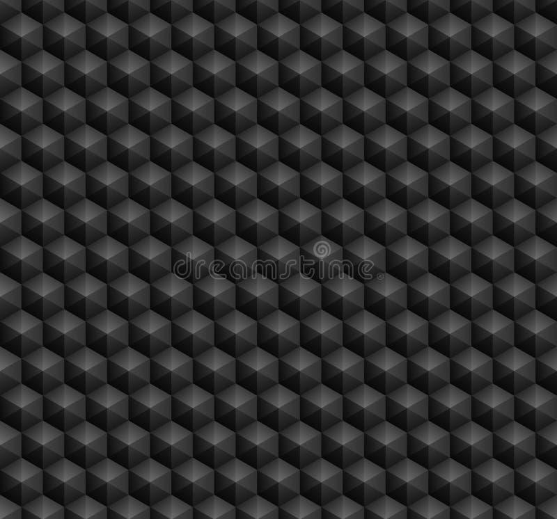 六角形无缝的样式 库存例证