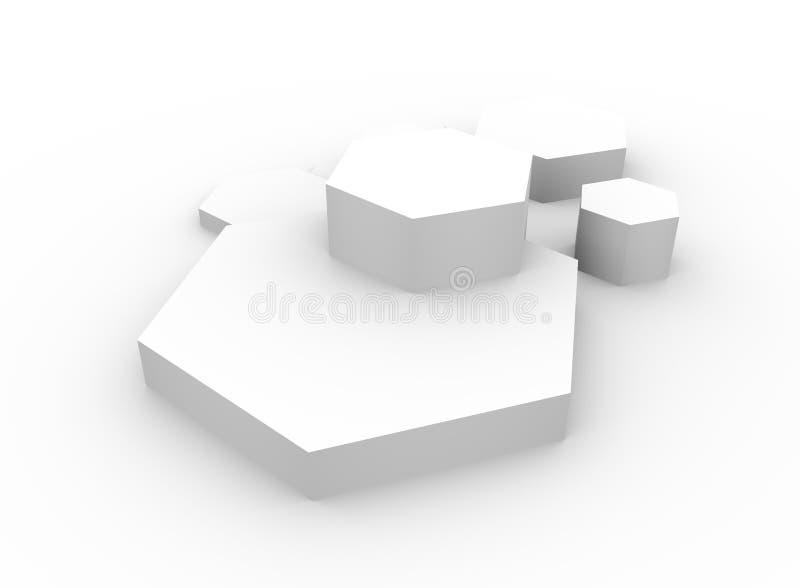 六角形构思设计摘要背景 图库摄影
