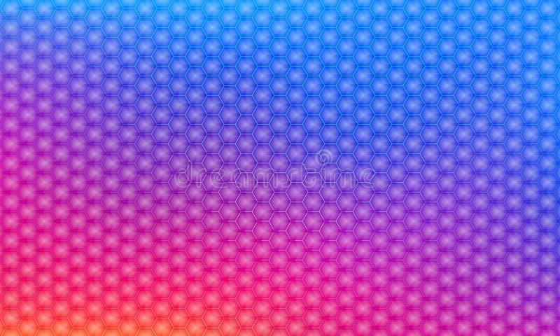 六角形现代3D传染媒介背景 您的设计的几何元素,数字技术现代背景 库存例证