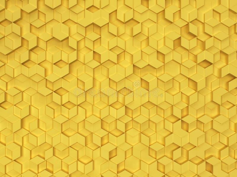 六角形由菱形做成 库存照片