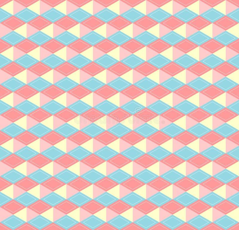 六角形的淡色样式 向量例证