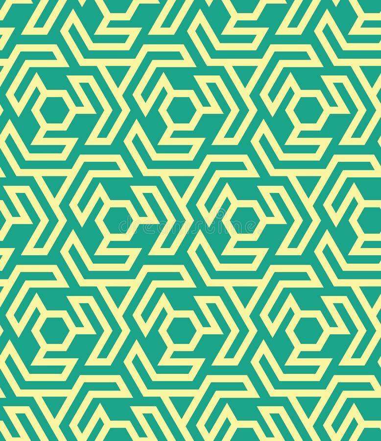从六角形的Seamles几何样式和三角-导航eps8 库存例证
