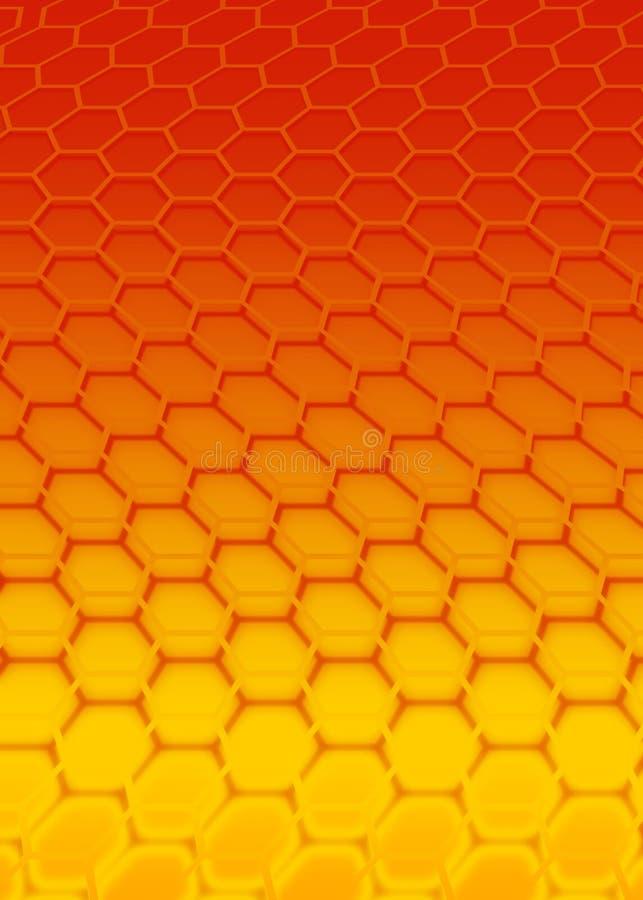 六角形红色 向量例证