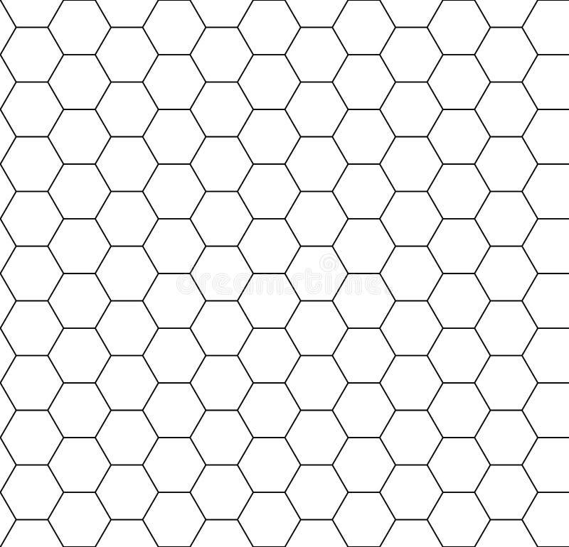 六角形背景无缝的梳子 库存例证