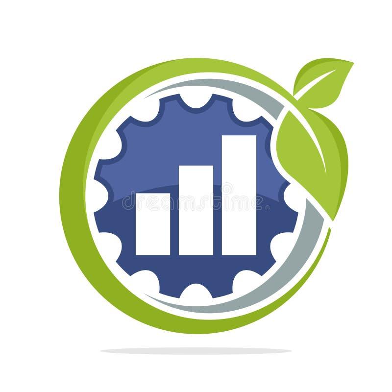 六角形象塑造与不伤环境的业务发展产业的概念的商标,为成长也能  库存例证