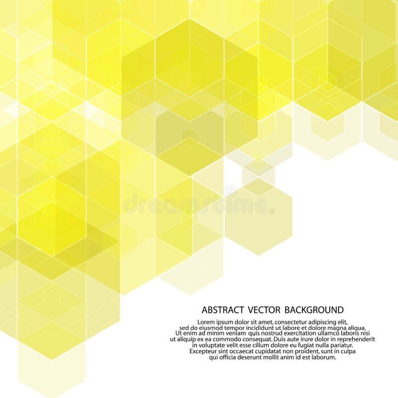 六角形黄色背景 E 10 eps 库存例证