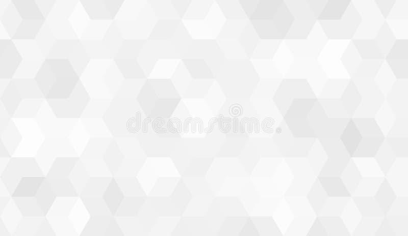 六角形细胞的样式 库存例证