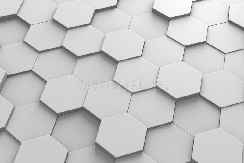 六角瓦片3D样式 向量例证