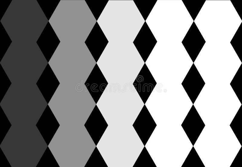 六角黑灰色白色几何设计在黑背景中 抽象纹理 能为封面设计,书设计使用, 库存例证