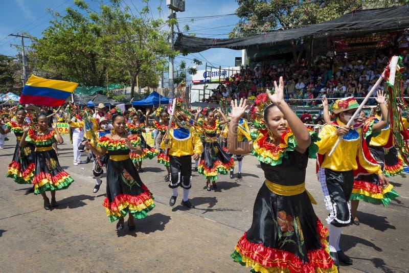 巴兰基利亚狂欢节,在哥伦比亚 免版税库存图片