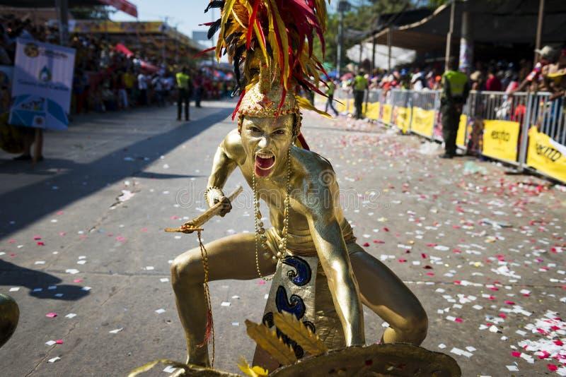 巴兰基利亚狂欢节,在哥伦比亚 免版税图库摄影