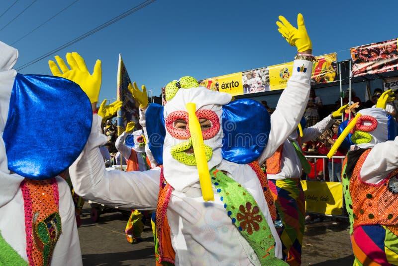 巴兰基利亚狂欢节,在哥伦比亚 库存图片