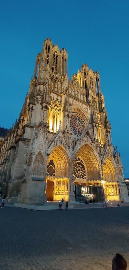 兰斯Cathedrale 免版税库存照片
