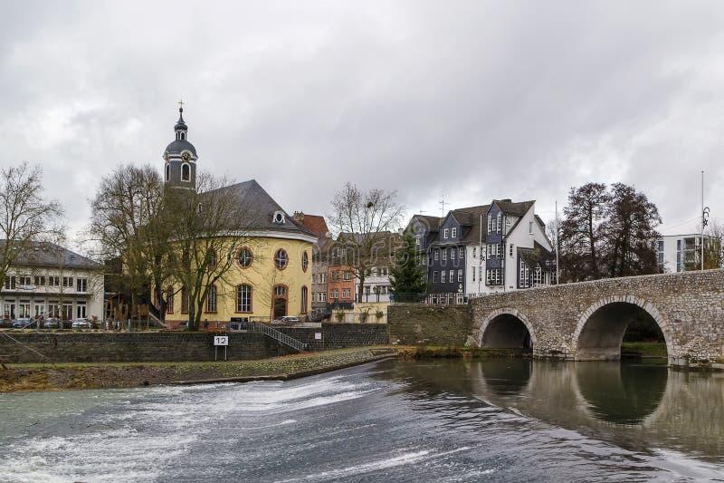 兰河桥梁在韦茨拉尔,德国 免版税图库摄影