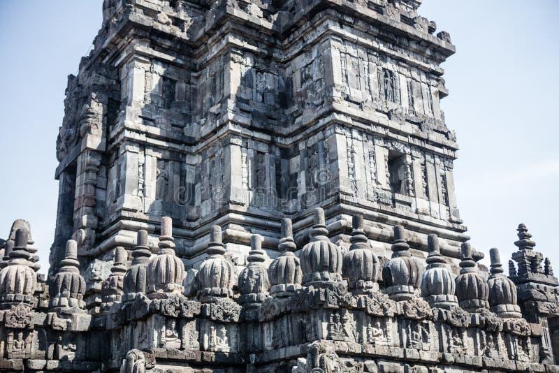 巴兰班南印度寺庙细节在印度尼西亚 免版税库存图片